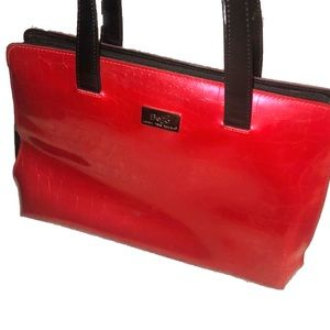 Last week- Beijo Cherry Red Patent Leather Bag